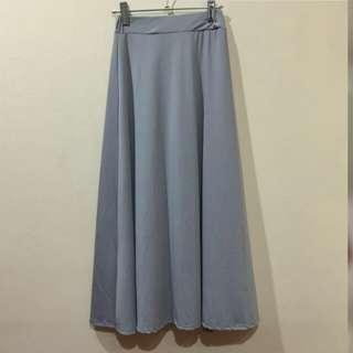 Gray formal long skirt