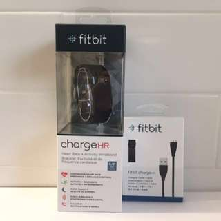 BNIB Fitbit Charge HR + Extra Charging Cable