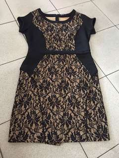 Krizia dress black gold