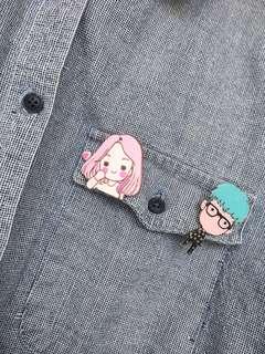 Korean Cute Badge