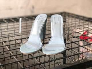 Forever 21 see thru block heels