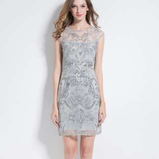 Dress silver sequin