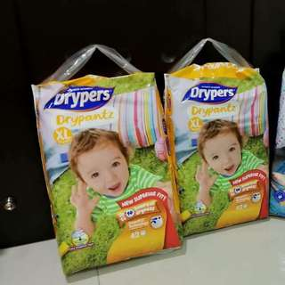 NEW Drypers Drypantz - Size XL (2packs x 42's)