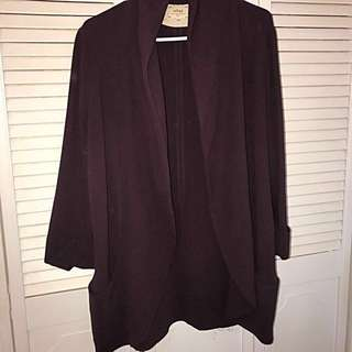 Aritzia-Wilfred Burgundy Cardigan