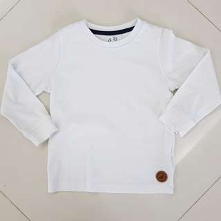 Mothercare white tshirt ( New )