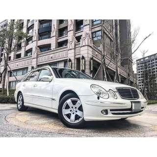 全額貸專區 2006年 賓士 BENZ E350 全車原鈑件 海關證明齊 八安全氣囊 多功能方向盤 皮椅 車況佳