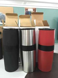 Insulated Coffee tumbler w/ grinder