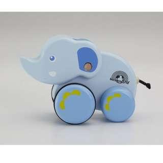 WONDERWORLD BABY BLUE ELEPHANT - PULL TOY
