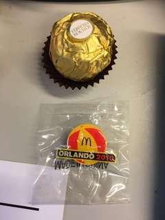 McDonald Pin 襟針 2010