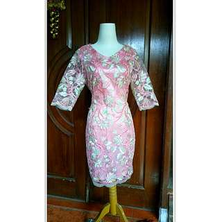Dress Kebaya Flowers Pink