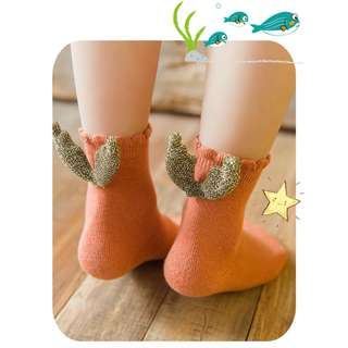 Pre-Order - High Quality Premium Cotton Cute Wing Socks - 1 to 8 yrs - 6 colors - 1 for $5, 3 for $12 - Unisex