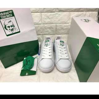 OEM (NOT CLASS A) ADIDAS STAN SMITH GREEN TAB