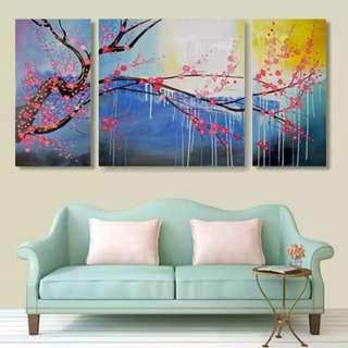 Cherry Tree Handpainted Oil Painting