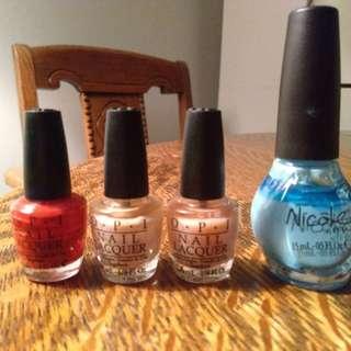 O.P.I nail polishes