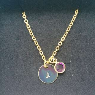 Customised Necklace with BirthStone