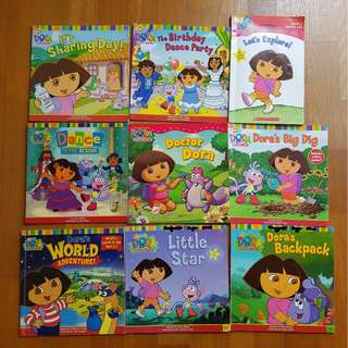 A bundle of Dora Story Books