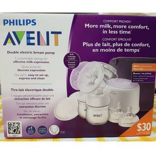 New Philips Avent Double Electric Breast Pump
