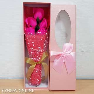 BN 5 Soap Roses Bouquet Giftbox