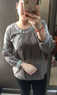 NETT-(NEW) Z*ARA BORDIR TOP