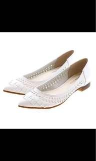 全新日本 JELLY BEANS 多色尖頭織皮平底鞋 *18春夏新款* 130/0026