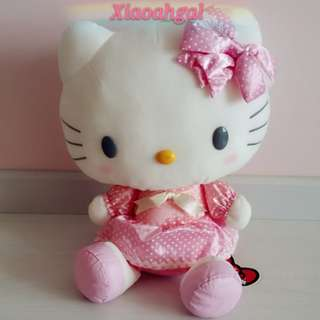 🔴35%➡️FOLLOWERS ONLY!🔴🏵BIG 35CM🏵🐰JAPAN SANRIO ORIGINAL - AUTHENTIC BRAND NEW +TAG (Clean used as displayed)🐰PINK HELLO KITTY Soft Plush/Doll/Toy!💋No Pet No smoker clean Hse💋