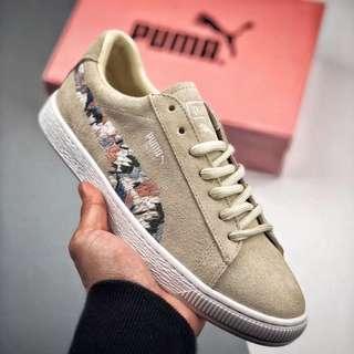 Puma Suede Sunfade Stitch Flower Shoes Footwear