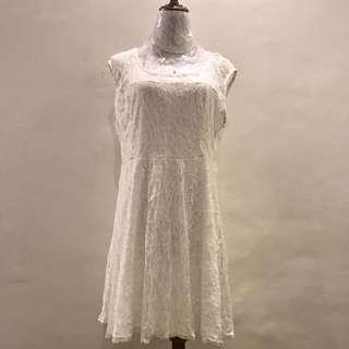 Zoah White Lace Dress
