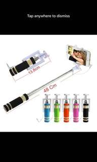 Selfie Stick with AUX Cable for all Smartphones,,