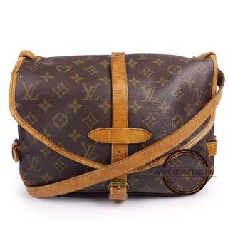Authentic Louis Vuitton Monogram Saumur PM LV