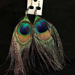 🌈Peacock Feather Earrings🌈