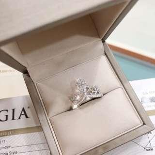 超美的白金皇冠GIA鑽石戒指💍 還有哦,GIA 國際證書 D色 VS級別🤟🏻超級好價