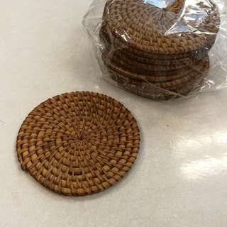 Rattan coaster for cup