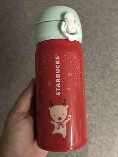 Brand New Starbucks Dancing Rudolph Thermos Flask (Korea)