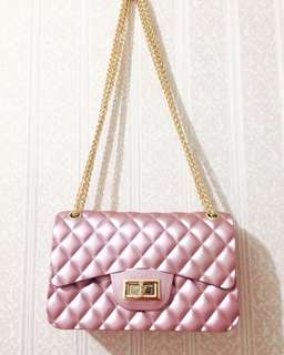 Tas Chanel jelly matte rose gold