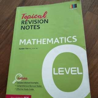 O Level E Math Topical Revision Notes