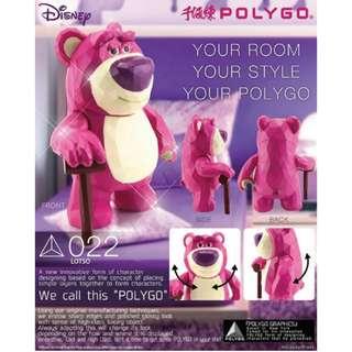 5月預訂!全新未開封 千值練 Polygo 022 勞蘇 牢騷 Lotso 反斗奇兵 Toy Story 迪士尼 Disney 景品