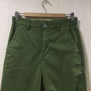 🚚 GLOBAL WORK 男直筒褲 S號 綠色