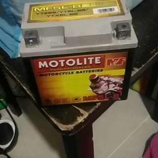 Motor battery not used