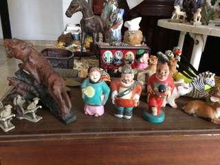 3 vintage figurines