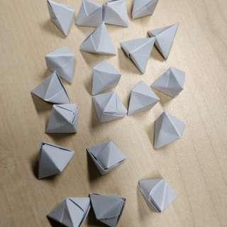 Origami tetrahedron (1 piece), 20 units