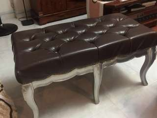 For Rent Tufted Bench