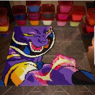 Hama beads design Dragon Ball Z Characters another Beerus