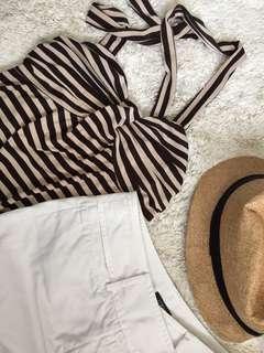 Bundle j-crew white shorts & halter top