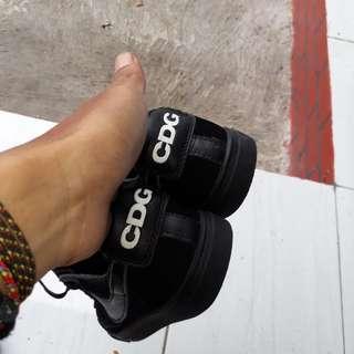 Nike x CDG suede black