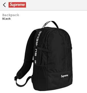 Supreme  backpack 2018新款 金新