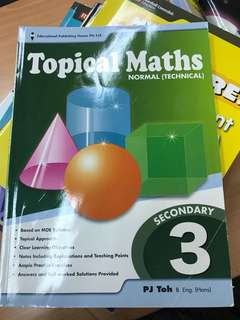 Topical Maths Sec 3 Normal Technical
