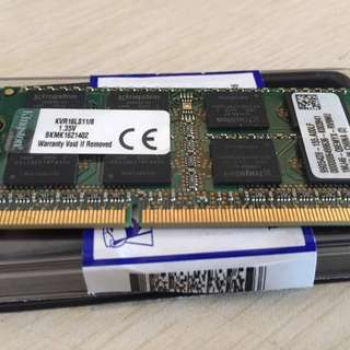 Kingston KCP3L16SD8/8 8gb 1600mhz Low Voltage Laptop RAM