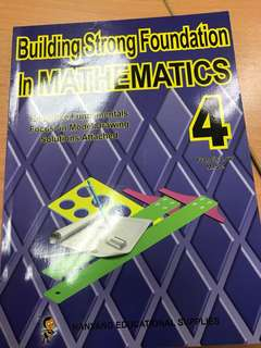 Building Strong Foundation in Mathematics P4