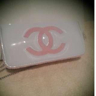 chanel vip white patent bag