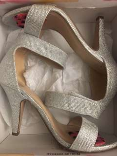 Silver Sparkles Heels